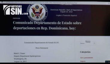 Reacciones en contra de comunicado emitido por el Departamento de Estado de EEUU