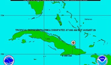 Erika se convierte en un depresión tropical en su desplazamiento por Cuba