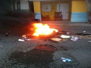 Un muerto en medio de protestas en Moca