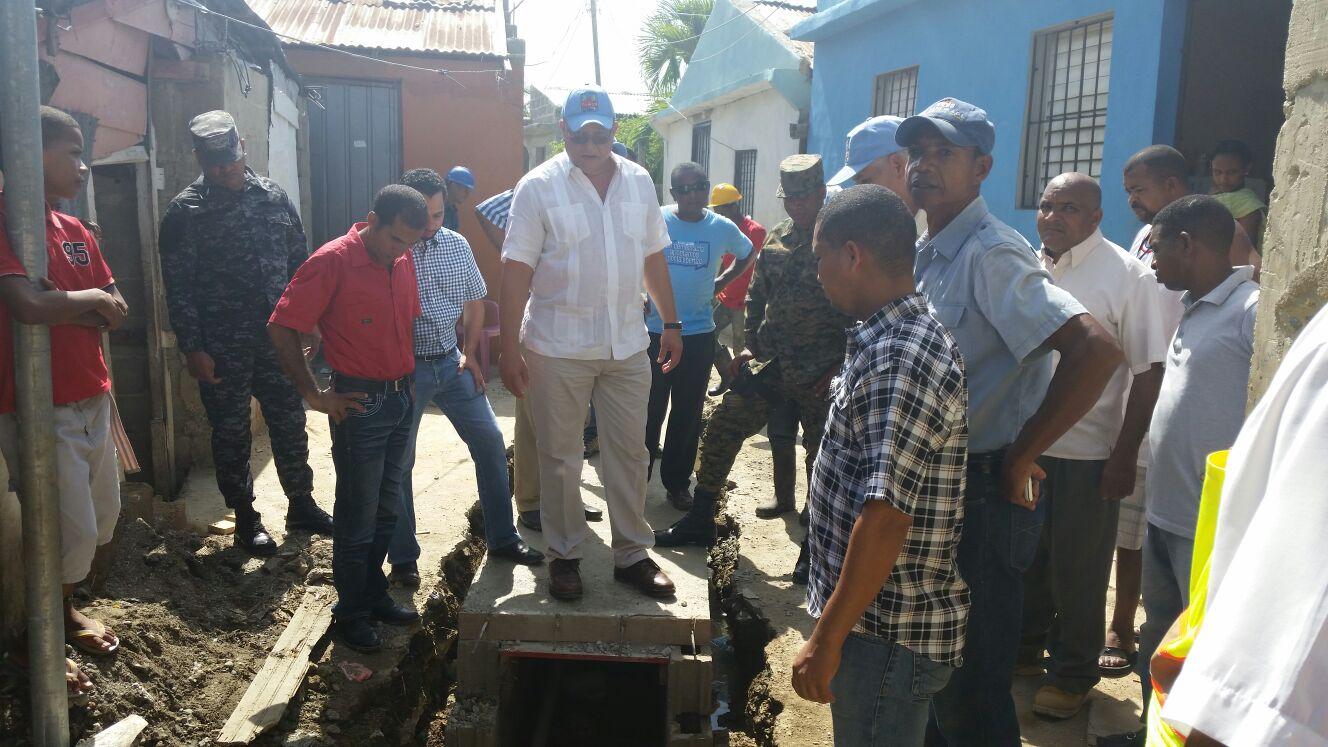 CAASD afirma trabajos de saneamiento de la cañada El Arrozal