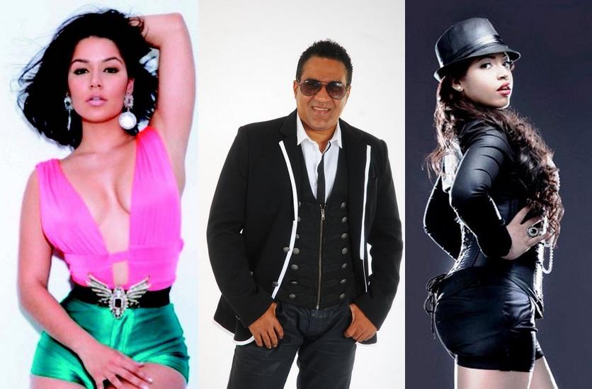 Tueska, Kinito Méndez y Juliana juntos este lunes en Jet Set Club