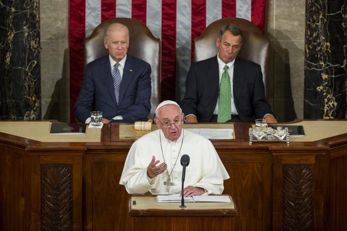 Francisco pide en el Congreso de EEUU