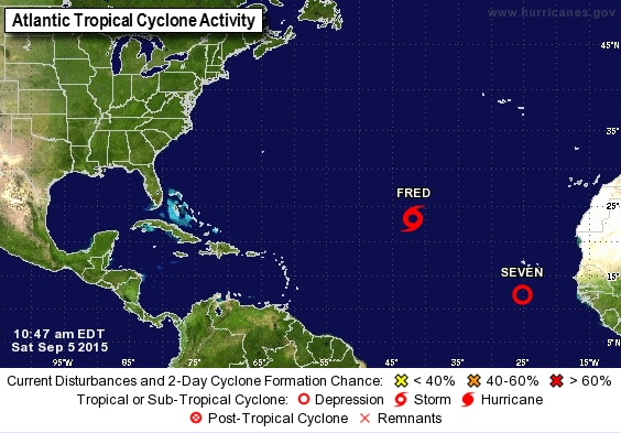 La tormenta Fred se mantiene como depresión tropical en el este del Atlántico
