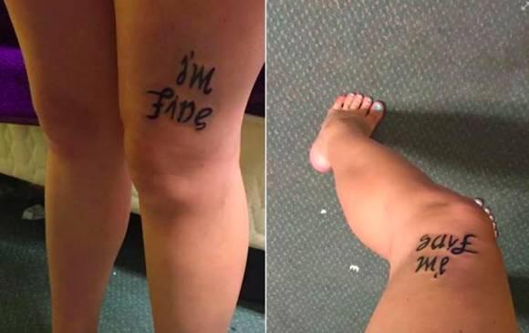 El tatuaje de una joven con depresión causa furor en redes