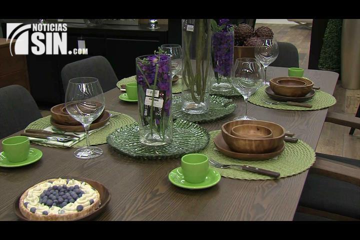 Conozca como ordenar su mesa con una buena decoración