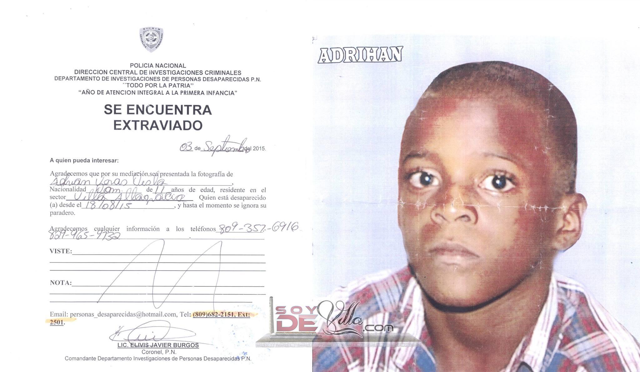 Niño de 11 años lleva 20 días desaparecido; familiares piden ayuda
