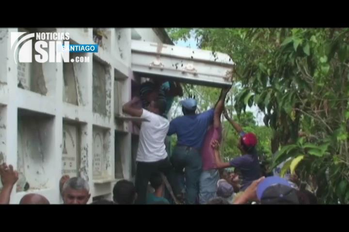 Sepultan tercer obrero se contaminó limpiando presa Tavera Bao