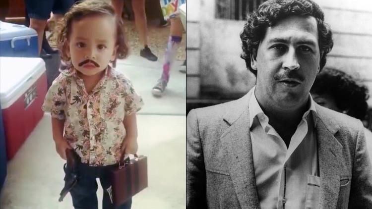 Niño disfrazado de Pablo Escobar desata la polémica en redes sociales