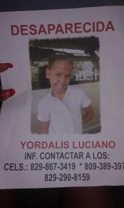 Continúa desaparecida niña de once años de Boca Chica