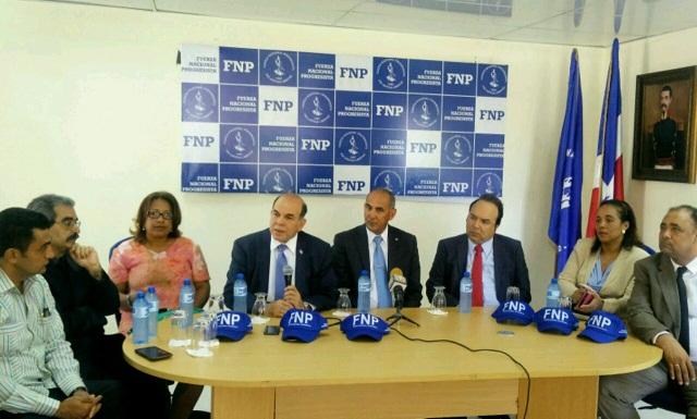 Fuerza Nacional Progresista anuncia candidato alcalde SDN