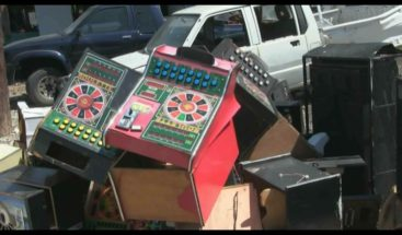 Incautan decenas de máquinas tragamonedas en Azua