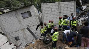 Sube a 253 cifra de muertos y a 374 la de desaparecidos por alud en Guatemala
