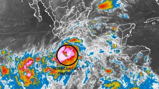 El huracán Patricia se encuentra a 56 kilómetros al sur de Jalisco