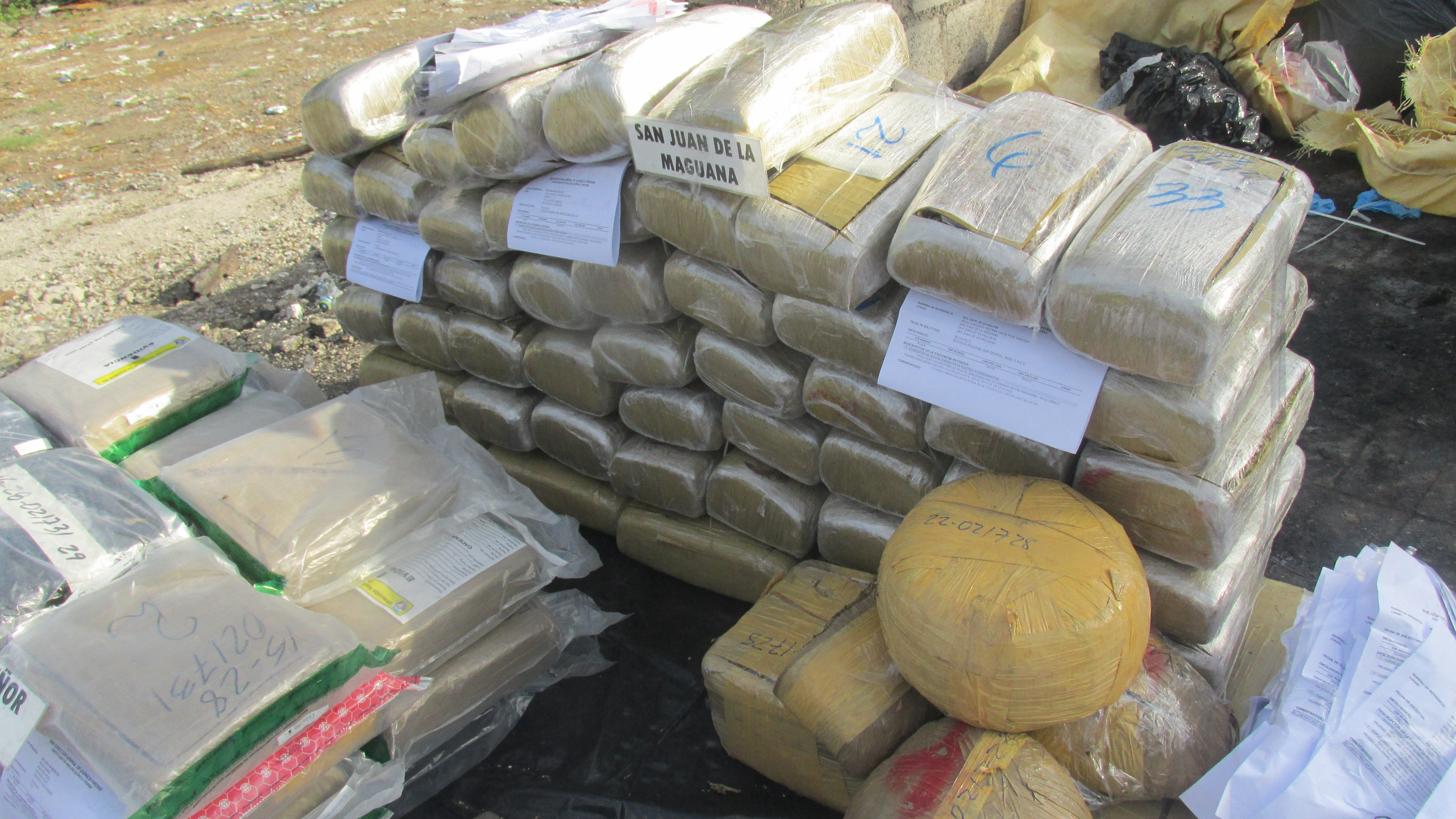 Procuraduría General incinera 268 kilogramos de drogas