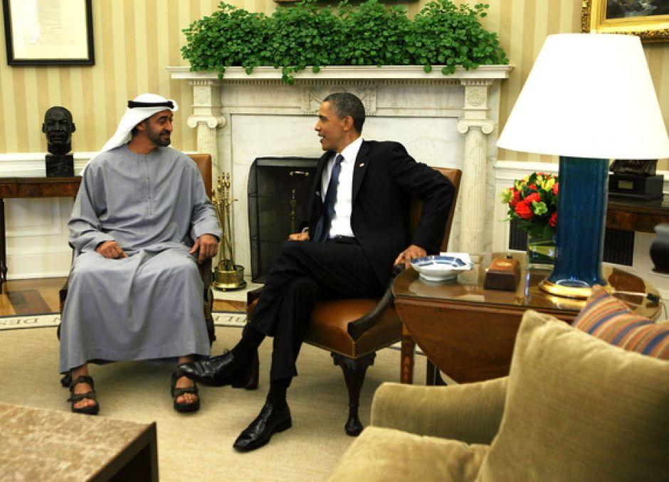 Obama aborda con el príncipe de Abu Dhabi situación en Oriente Medio