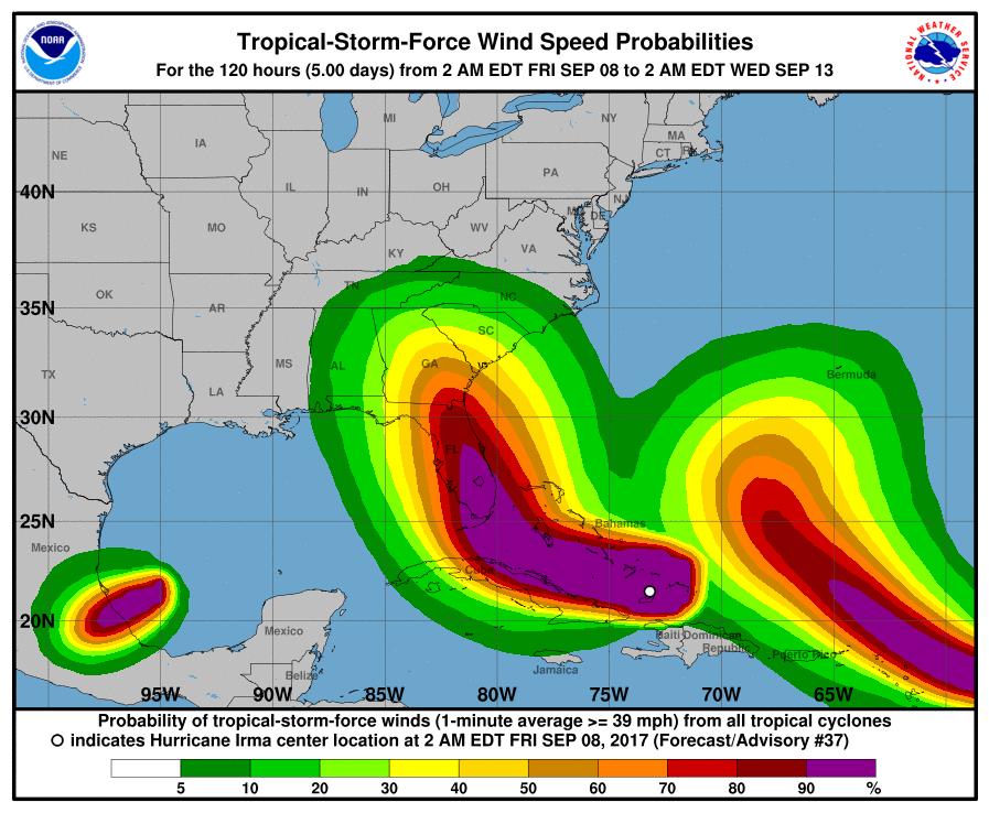 Irma, Katia y José: ¿Es normal que haya tres huracanes activos a la vez en el Atlántico?