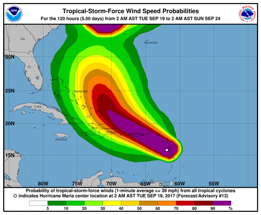 Gobernador de P.Rico dice ciclón María puede ser más peligroso de historia