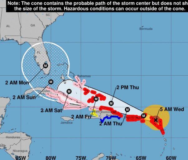 Huracán más peligroso de la historia se acerca a RD a partir de mañana