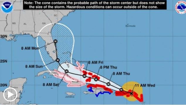 Ojo de huracán Irma está a 144 kilómetros de San Juan