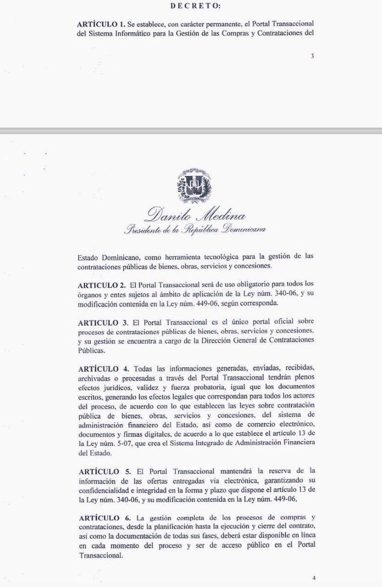 Presidente establece uso obligatorio de Portal de Compras y Contrataciones