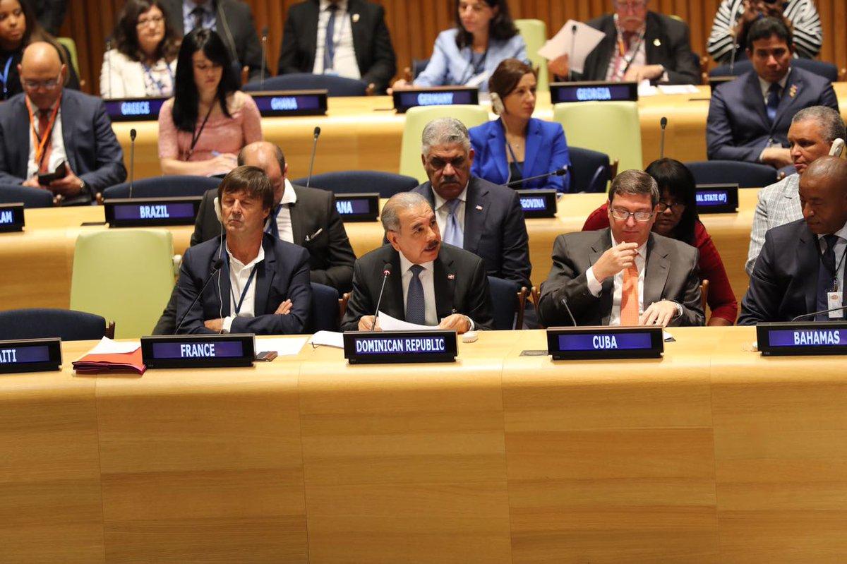Presidente Medina pide ante la ONU la creación de fondo para ayudar naciones afectadas por Irma