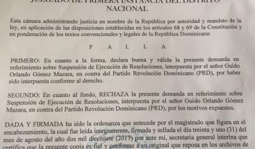 Rechazan demanda interpuesta por Guido Gómez Mazara contra Consejo Disciplina del PRD