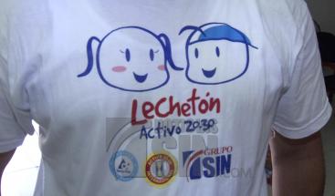 """Niños del hogar San Francisco de Asís son beneficiados con leche donada por """"Lechetón Activo 20-30"""""""