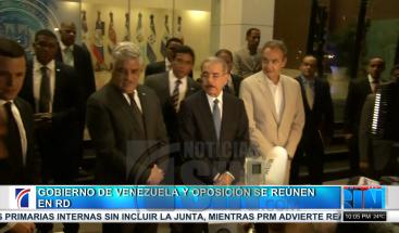 Presidente encabeza reunión con comisión del gobierno venezolano y la oposición