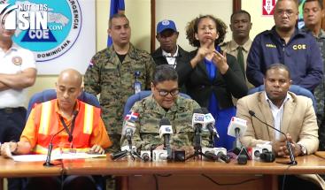 COE disminuye las provincias en alerta roja a cinco; Irma ya no representa peligro