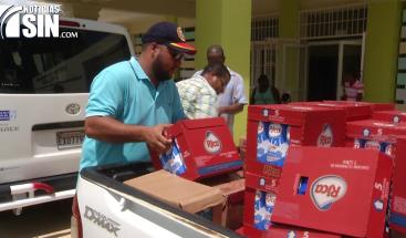 """Inicia entrega de los litros de leche recolectados durante el fin de semana en la campaña """"Lechetón"""""""