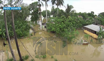 Se desborda río Yuna e inunda viviendas en la provincia Duarte