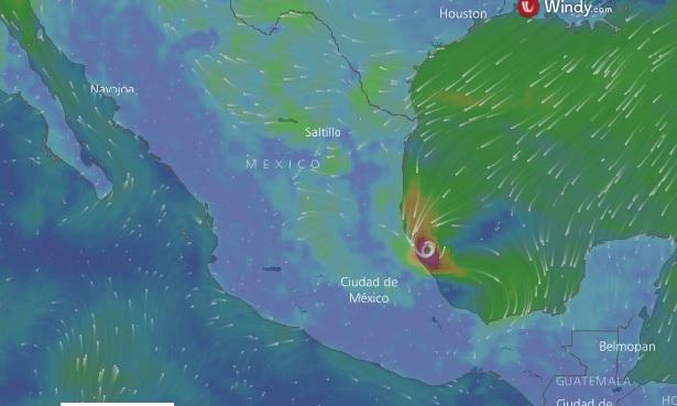 El huracán Katia se fortalece en su camino a México con categoría 2