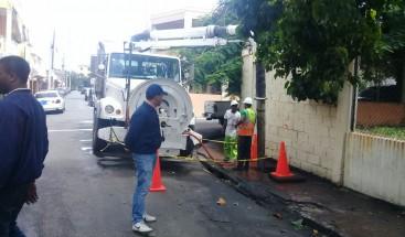 ADN continúa trabajando en la limpieza de la zona urbana tras el paso del huracán María