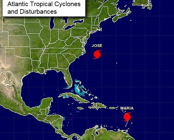 María se convierte en tormenta tropical frente a la costa sureste de EEUU