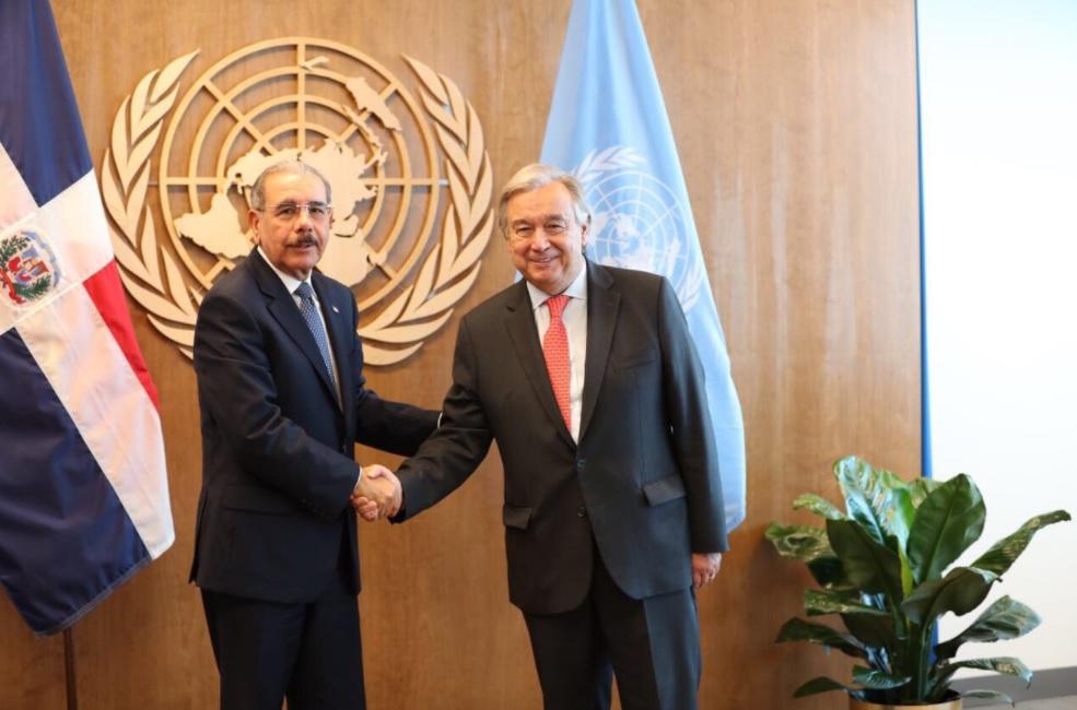 Presidente Medina se reúne con secretario general de las Naciones Unidas