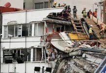 Familias en México temen que torres dañadas por sismo colapsen sobre edificio