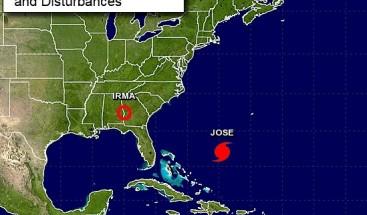 Irma se debilita a depresión tropical en su avance por el sureste de EE.UU.