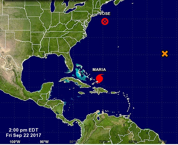 Huracán María se mueve rumbo al norte y se aleja de las Islas Turcas y Caicos