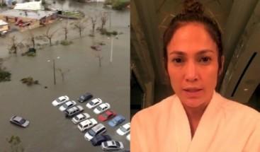Jennifer López dona un millón de dólares a reconstrucción de PR por María