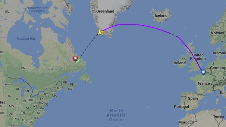 Un avión de Air France aterriza de emergencia en Canadá con un motor estropeado