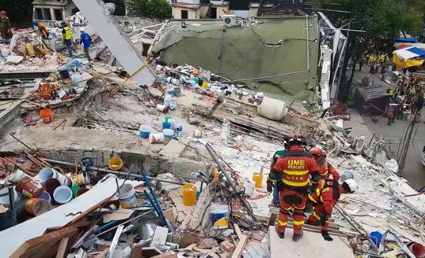 Asciende a 366 la cifra de muertos en terremoto de 19 de septiembre en México