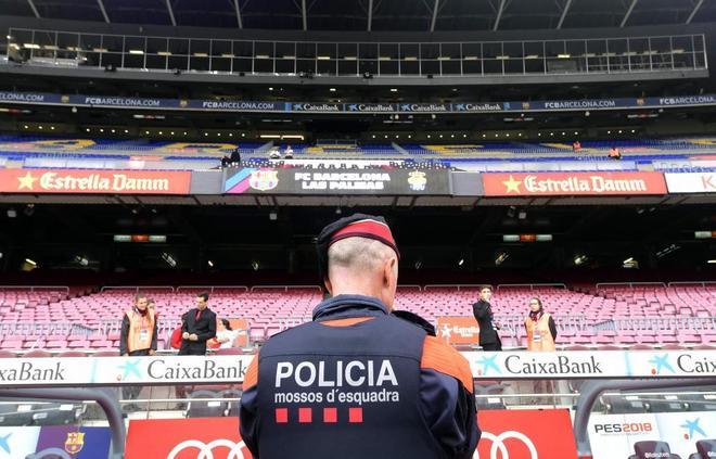 El Barça vacía el campo para evitar altercados en partido contra Las Palmas