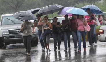 Onamet: Habrá nublados con aguaceros y tronadas en algunas localidades