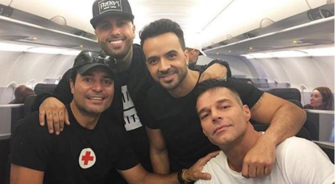 Ricky Martin, Fonsi y Chayanne se unen para repartir ayudas a Puerto Rico