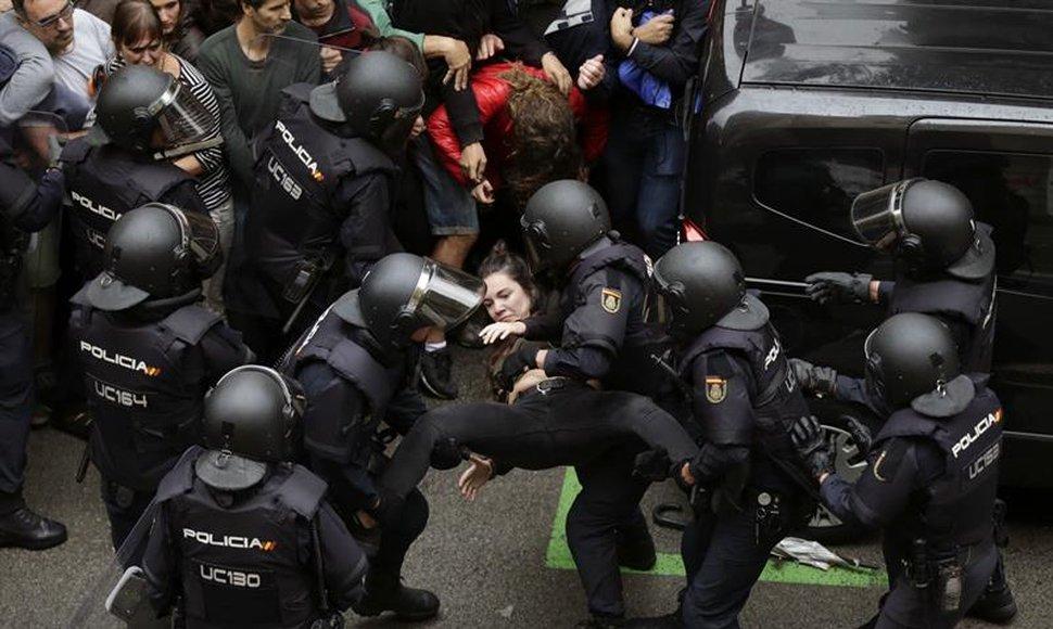 Más de 700 heridos en altercados durante el referéndum de Cataluña