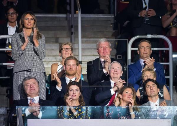 Melania Trump, Trudeau y el príncipe Harry abren los Juegos Invictus en Toronto