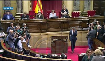 El Parlamento catalán declara la independencia de Cataluña como