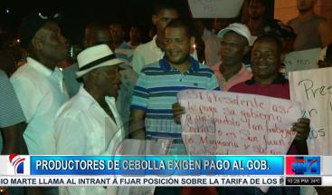 Productores de cebolla exigen al Ministerio de Agricultura el pago de 119 millones de pesos