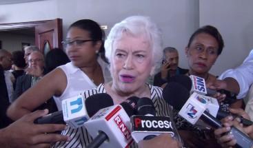 Milagros Ortiz Bosch culpa al PLD de impedir se apruebe Ley de Partidos