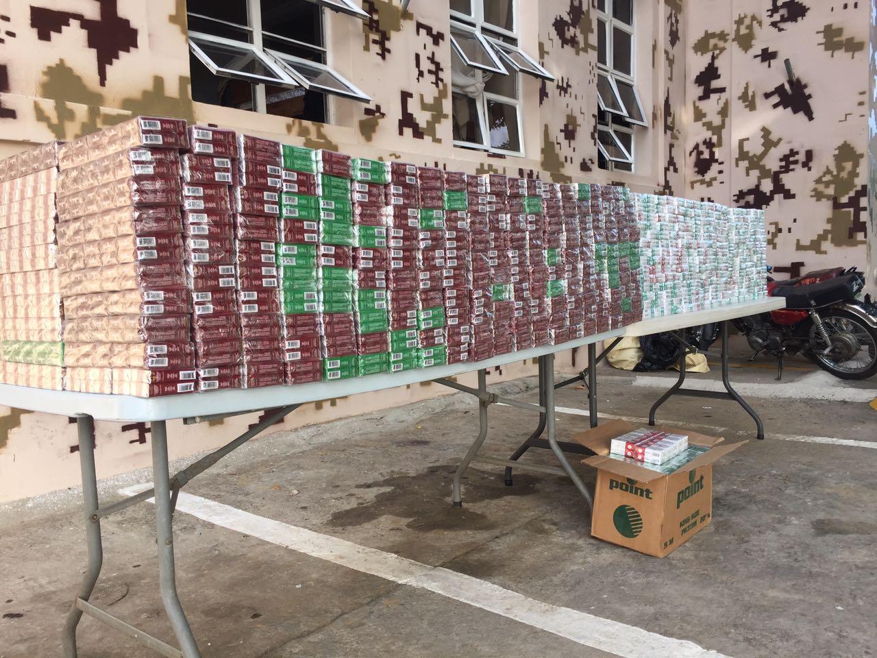 Incautan 140 mil unidades de cigarrillos en Dajabón